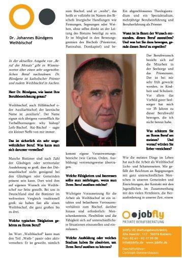 Dr. Johannes Bündgens Weihbischof - Jobfly