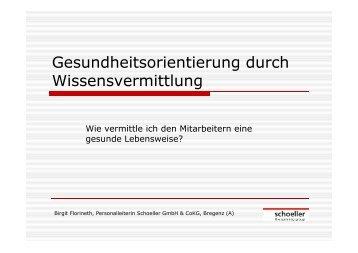 Präsentation: Firma Schoeller