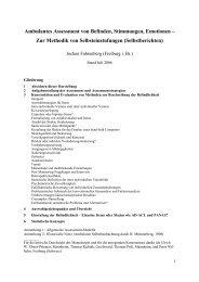 Zur Methodik von Selbsteinstufungen - Jochen Fahrenberg