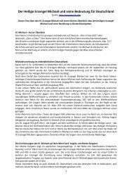 Der Heilige Erzengel Michael und seine Bedeutung für Deutschland