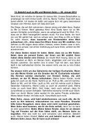 13. Bekehrt euch zu Mir und Meinem Sohn - Jochen-roemer.de
