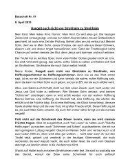 Hangelt euch nicht von Strohhalm zu Strohhalm - Jochen-roemer.de