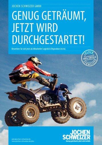 Mitarbeiter Logistik & Disposition (m/w) - Jochen Schweizer