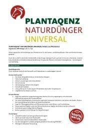 PLANTAQENZ® NATURDÜNGER UNIVERSAL Pellets aus ... - Joda