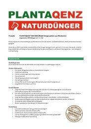 Produkt PLANTAQENZ® NATURDÜNGER Düngerpellets ... - Joda