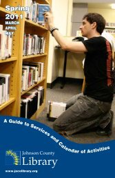 Spring 2011 - Johnson County Library