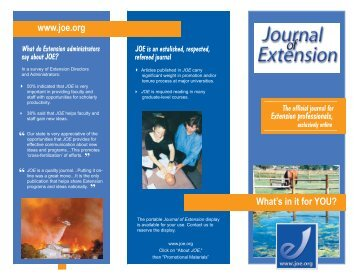 joe revision - The Journal of Extension