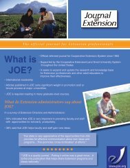 What is JOE? - The Journal of Extension