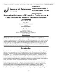 Measuring Outcomes of Extension Conferences - The Journal of ...