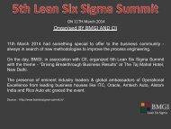 BMGI at 5th Lean Six Sigma Summit 2014