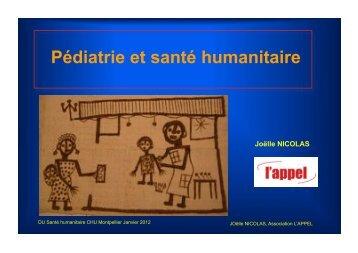 Pédiatrie et santé humanitaire - accueil joelle nicolas randegger