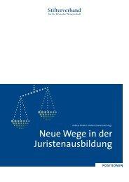 Neue Wege in der Juristenausbildung - Stifterverband für die ...