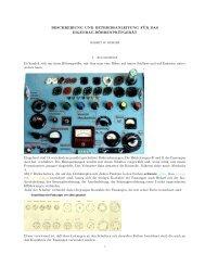 Beschreibung, Schaltung und weiteren Gerätedetails