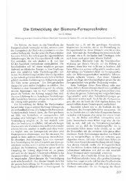 Die Entwicklung der Siemens-Fernsprechröhre