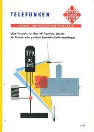Hochfrequenzvorstufen-Zusatzes mit dem OC 615