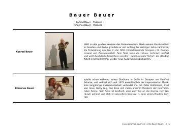 B a u e r   B a u e r - Johannes Bauer