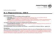 Informationsblatt Nr. 2 Pflegeversicherung – SGB XI