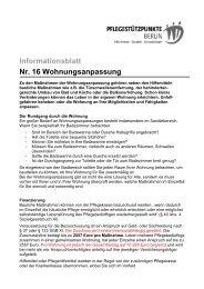 Informationsblatt Nr. 16 Wohnungsanpassung - Evangelisches ...