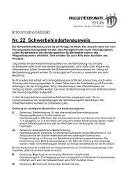 Informationsblatt Nr. 22 Schwerbehindertenausweis - Evangelisches ...