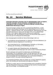 Informationsblatt Nr. 14 Service-Wohnen - Evangelisches ...