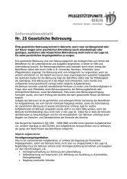 Informationsblatt Nr. 25 Gesetzliche Betreuung - Evangelisches ...