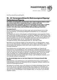 Informationsblatt Nr. 24 Vorsorgevollmacht - Betreuungsverfügung