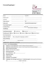 Personalfragebogen - Evangelisches Johannesstift