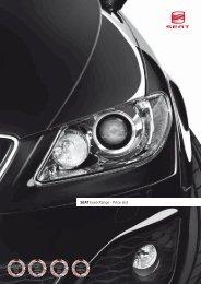 SEAT Exeo Range - Price List - John Clark Motor Group