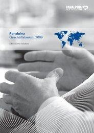 Panalpina Geschäftsbericht 2009