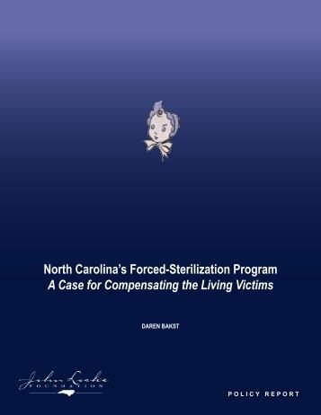 North Carolina's Forced-Sterilization Program A Case - John Locke ...