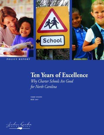Ten Years of Excellence - John Locke Foundation