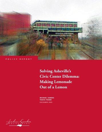 Solving Asheville's Civic Center Dilemma - John Locke Foundation