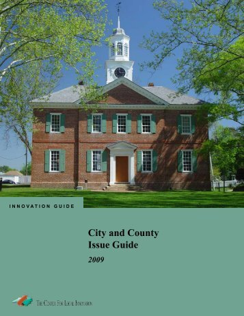 City and County Issue Guide 2009 - John Locke Foundation