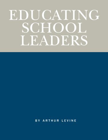 Educating School Leaders - National Council on Teacher Quality
