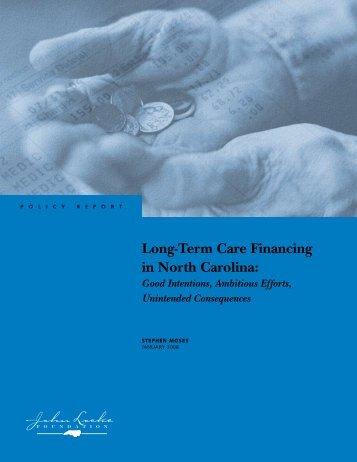 Long-Term Care Financing in North Carolina - John Locke Foundation