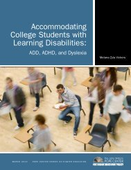 Accommodating College Students with Learning Disabilities: ADD