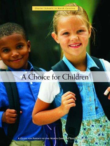 School choice guide for NC parents - John Locke Foundation