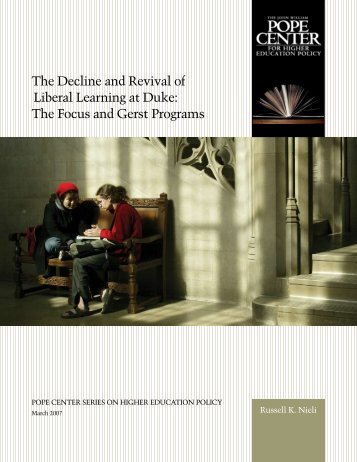 The Focus and Gerst Programs - John Locke Foundation