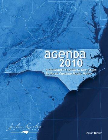 Agenda 2010 - John Locke Foundation