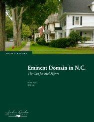 Eminent Domain in N.C. - John Locke Foundation