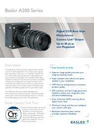 Digital CCD Area Scan Monochrome Camera ... - Motion Analysis Inc