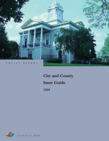 City and County Issue Guide 2008 - John Locke Foundation