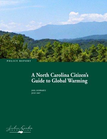 A North Carolina Citizen's Guide to Global Warming - John Locke ...