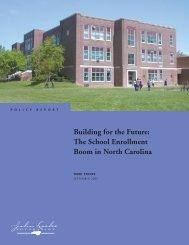 Building for the Future: The School Enrollment Boom in North Carolina