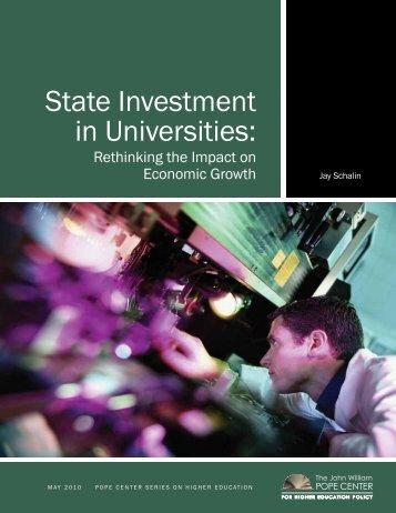 State Investment in Universities: - John Locke Foundation