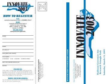 31288 brochure - John Locke Foundation
