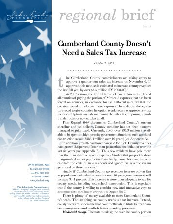 Cumberland County doesn't need a sales tax increase - John Locke ...