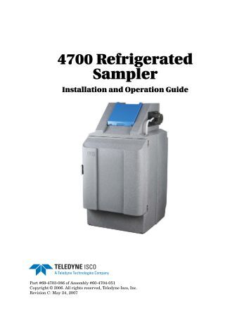 Isco 4700 refrigerated sampler