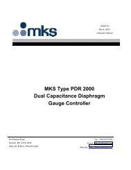 MKS Type PDR 2000 Dual Capacitance Diaphragm Gauge ...