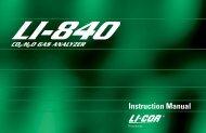 LI-840 Manual - John Morris Scientific